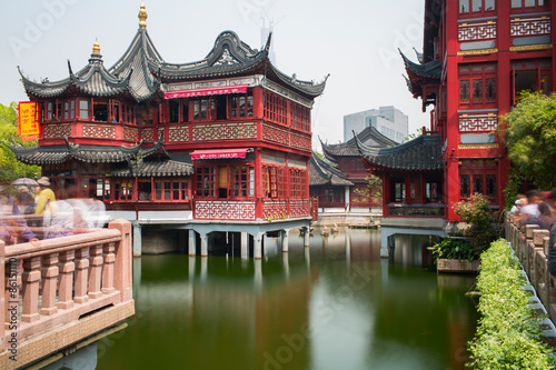 Plakát, Obraz The City God Temple or Chenghuang Miao area. Shanghai