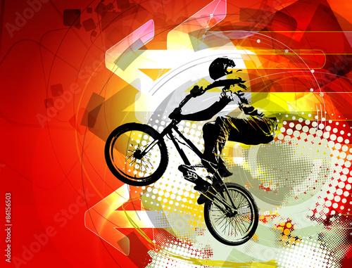 BMX rider. Sport illustration