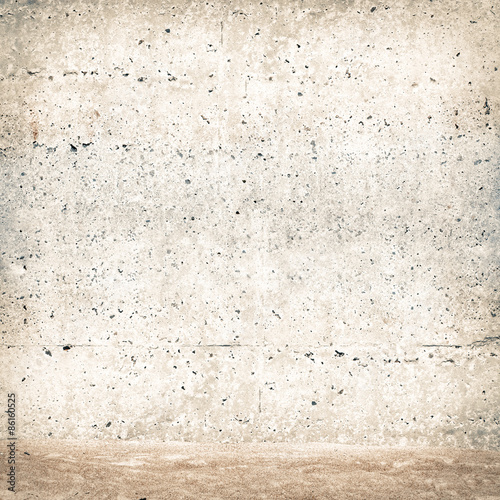 Poster Betonbehang stucco wall with sand