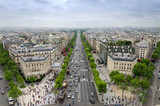 Fototapety View of the Champs Elysees from the Arc de Triomphe in Paris