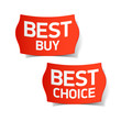Detaily fotografie Best buy and best choice labels
