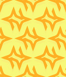 Repeating pattern made of pointed shapes. Editable vector graphi poster