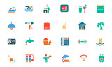 Hotel and Restaurant Colored Vector Icons 2