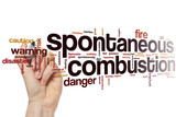 Spontaneous combustion word cloud poster