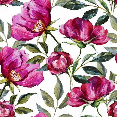 Materiał do szycia Watercolor floral pattern