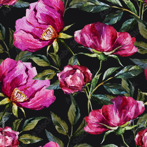 Watercolor floral pattern - 86204173