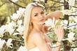 Постер, плакат: Красивая молодая блондинка Идеальная красота