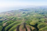 Air Birds Eye View Landscape sugarcane fields