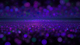 Cosmic Path - Purple and blue digital abstract bokeh.