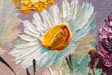 Fototapety Abstract background. Oil painting - flowers