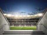 Stadion mit Blick aus dem Mittelgang