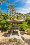 Fototapeta Traditional stone lantern (toro) in Takamatsu castle, Japan