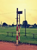 Fototapeta Referee seat in the volleyball or tennis outdoor court