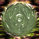 Abstract hyper glass ball texture poster