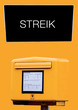 Постер, плакат: Post Streik Briefkasten DHL Streiken Deutsche Post Briefe Infopost Post Streik