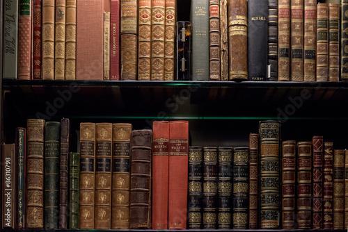 Antique and rare Books Shelf Poster