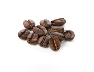 coffee beans espresso isolated on white background macro