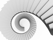 Silver stairs concept rendered on white