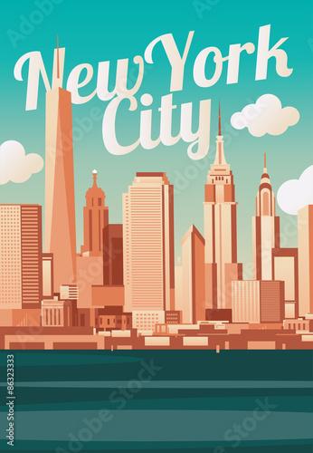 Zdjęcia na płótnie, fototapety, obrazy : New York City skyline