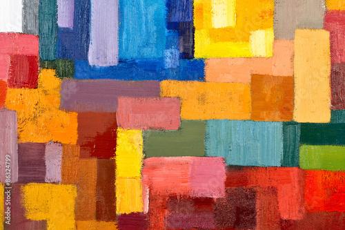 Zdjęcia na płótnie, fototapety na wymiar, obrazy na ścianę : Abstract Painting Fragment