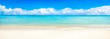 Fototapety Sommer Sonne Meer und Strand als Panorama Hintergrund