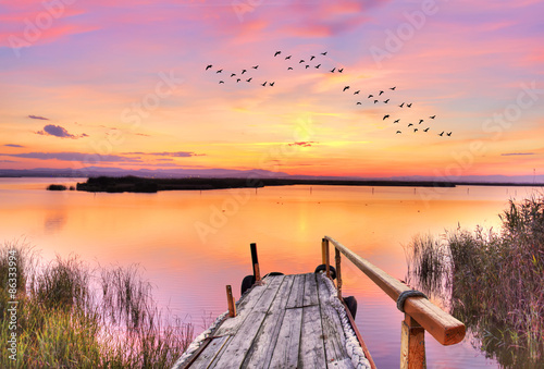 tiempo libre en el lago