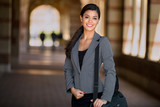 Fototapety Beautiful pretty woman professional suit modern style executive entrepreneur