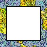 Hand drawn doodle art frame. poster