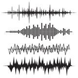 Fototapety Sound Wave Icon Set. Music soundwave icons set. Equalize audio a