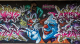 Graffiti Clown w Mainz Kastel