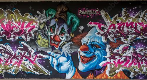 Graffiti Clown in Mainz Kastel