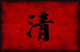 Chinese Calligraphy Symbol for Clarity poster