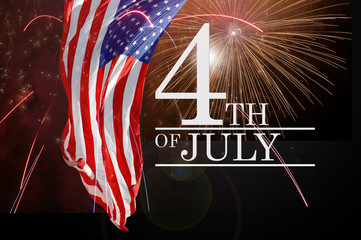 Celebrating the Fourth Of July. Independence day July 4th.