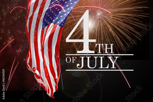 Poster Celebrating the Fourth Of July. Independence day July 4th.