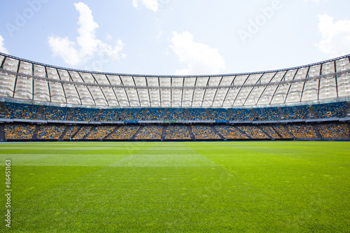 Olympic Stadium in Kiev, where the european football championship in 2012 have b Poster