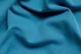 Blue full frame wrinkled polyester fabric poster