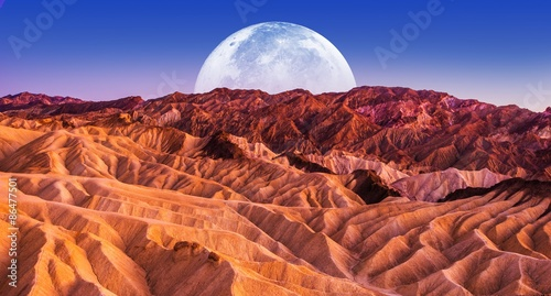 Foto op Canvas Baksteen Death Valley Scenic Night