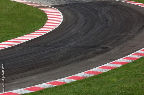 Plakat Race track curve road