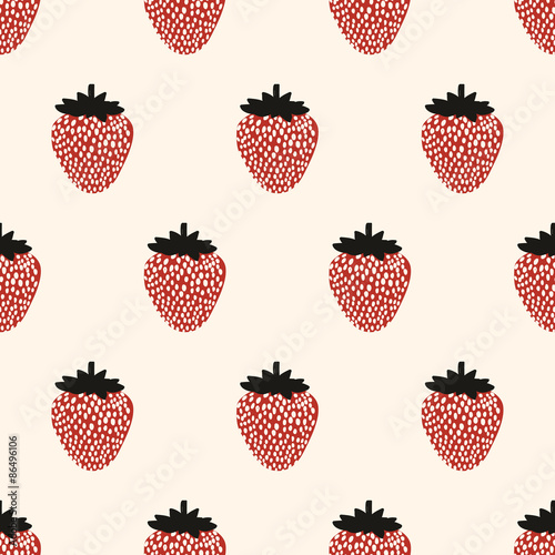 seamless strawberry pattern - 86496106