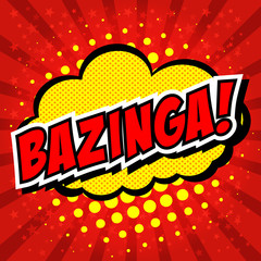 Bazinga! Comic Speech Bubble, Cartoon