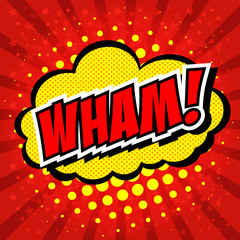 Wham! - Comic Speech Bubble, Cartoon