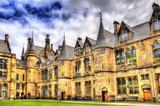 Fototapeta Inner court of Glasgow University - Scotland