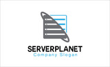 Server Planet logo template