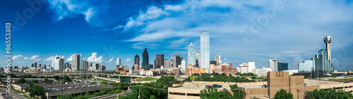 Partly Cloudy Dallas Skyline