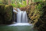 Fotoroleta Beautiful little waterfall in forest