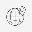 global internet line icon