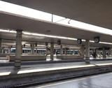 Fototapeta railways station