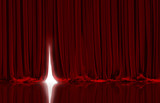 Red curtain in theater. - 86580582