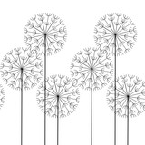 vector seamless abstract pattern dandelions