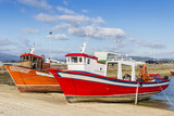 Wooden aquaculture boats poster